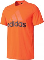 new product cf798 99436 adidas Essentials Linear Tee - Sportshirt - Heren - L - Energy S17