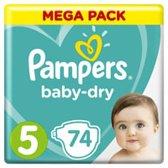 Pampers Baby Dry Maat 5 - 74 Stuks