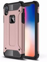 Mobiq - Rugged Armor Case iPhone XR roze