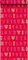 HD vliesbehang Love rood en roze - 136834 van ESTAhome.nl