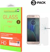 DrPhone 3 x Moto G5s Plus Glas - Glazen Screen protector - Tempered Glass 2.5D 9H (0.26mm)