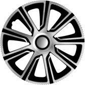 4-Delige J-Tec Wieldoppenset Veron 16-inch zilver/zwart/carbon-look