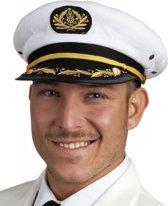 Kapitein pet wit voor volwassenen 60 cm