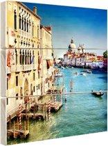 Venetie Hout 120x160 cm - Foto print op Hout (Wanddecoratie) XXL / Groot formaat!