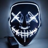 MASKER MET LED VERLICHTING - THE PURGE - WIT