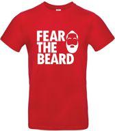 Fear the Beard T-shirt - rood