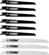 FERM Reciprozaagbladenset - 9 Stuks  - Voor RSM1019
