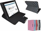 Polkadot Hoes  voor de Samsung Galaxy Tab A 8.0 Plus, Diamond Class Cover met Multi-stand, zwart , merk i12Cover