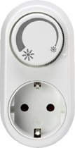 GBO LED tussenstekker met dimmer en draairegelaar met randaarde wit,  voor LED 3 - 24 Watt