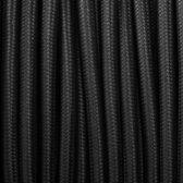 Strijkijzersnoer Zwart rond 3 aderig (3 draden)