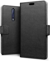 Knaldeals.com - Nokia 8 hoesje - Book Wallet Case - zwart
