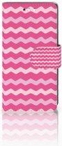 Sony Xperia XZ1 Compact Boekhoesje Waves Pink