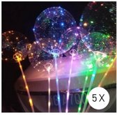Lichtgevend LED ballon - 30 LED - Uniek voor elk feest - Trend 2019 - 5 stuks