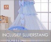 My Sweet Baby Sluier Voile Blauw (incl Sluierstang)