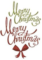 Sizzix Thinlits Die Set - 4PK Christmas Ribbon 664196 Tim Holtz
