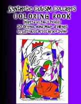 Synthetic Cubism Collages COLORING BOOK Inspired by Pablo Picasso Learn the Style with 21 Original handmade drawings by Surrealist Artist Grace Divine