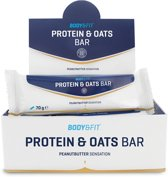 Body & Fit Protein & Oats Bar - Eiwitreep - 1 box (12 eiwitrepen) - Peanutbutter