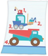 Baby Best Bouwplaats - Deken - 75x100 cm - Multi kleur