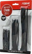 Kabelbinders Tie-Wraps Zwart - 3 maten - 60 stuks