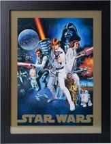 Poster Star Wars ingelijst 30x40cm.