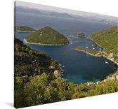 De bossen in het Nationaal park Mljet in Kroatië Canvas 180x120 cm - Foto print op Canvas schilderij (Wanddecoratie woonkamer / slaapkamer) XXL / Groot formaat!