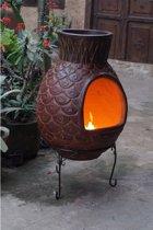 Sol-y-Yo XL-brede cactus Tuinhaard - ø56 x 110 cm - Rood - Met hoes