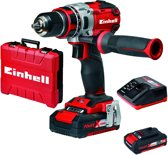 EINHELL Accu Boor-/Schroefmachine TE-CD 18 Li BL Kit - Power-X-Change - Koolborstelloos - 18 V - 60 Nm - Inclusief 2x  2,0 Ah accu / 1x lader / koffer
