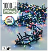 Kerstverlichting microcluster - 1000 LED - Multi Color - 20 Meter - 8 Standen