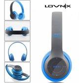 Lovnix P47   Bluetooth koptelefoon   Draadloze headset   Wireless Headphones   Grijs/Blauw