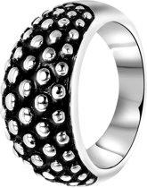 Stalen ring breed zwart