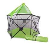 Lionelo Noor - Kinder Box met matras opvouwbaar met zonnehemel en tas - Groen
