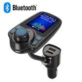FM Transmitter Bluetooth Draadloze Carkit 2020 / MP3 Speler Mobiel / Handsfree Bellen in de Auto / AUX input / Lader / USB Flash drive / Muziek / Audio / Radio / SD/TF kaart / Carkit Adapter T10D