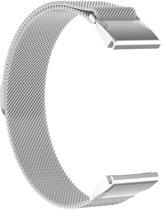 Just in Case Milanees armband voor Garmin Fenix 6 - Zilver
