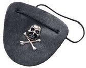 Piraten ooglapje met doodshoofd