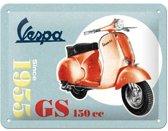 Wandbord - Vespa GS 150cc -15x20-