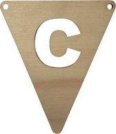 Houten Vlagletter C | 11,5 cm