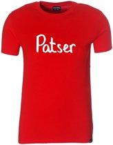 Patser T-shirt boy rood 152-164