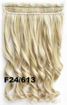 Clip in hair extensions 1 baan wavy blond - F24/613
