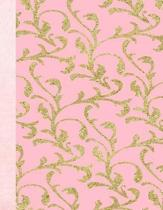 Pink & Gold Design 8.5 x 11 150 Pages Journal Notebook