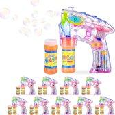 relaxdays 10 x bellenblaas pistool - LED - bellenblaaspistool - bellenblaasmachine