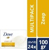 Dove Cream & Oil Zeep - 24 x 100 g - Voordeelverpakking