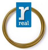 10m High-quality PLA 3D-pen Filament van Real Filament kleur satijn goud