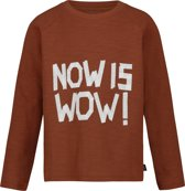 Noppies T-shirt lange mouw Belmont - Mahoganey - Maat 128