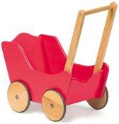 Base Toys Houten Poppenwagen Classic - Rood