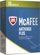 McAfee AntiVirus Plus - Nederlands - 10 Apparaten - PC / Mac / iOS / Android