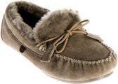 Warmbat dames pantoffel - Taupe - Maat 40