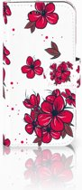 Samsung Galaxy A3 2017 Boekhoesje Design Blossom Red