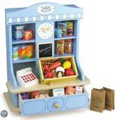 Houten speelgoed winkeltje compleet met accessoires