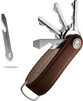 Northwall Sleutelhanger / Sleutel Organizer - 100% Echt Leer (bruin) - Multitool Kechain - 2 tot 10 Sleutels