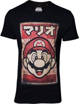 Nintendo - Mario Poster T-Shirt - Zwart - S